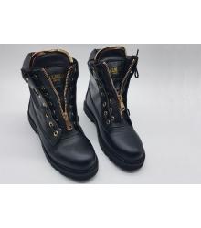 Ботинки женские Balmain (Бальман) кожаные Black