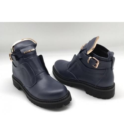Женские ботинки Balmain (Бальман) кожаные Blue