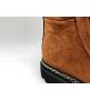 Ботинки женские Balmain (Бальман) кожаные на шнурках с молниями Brown