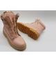 Ботинки женские Balmain (Бальман) кожаные Pink