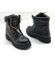 Ботинки женские Balmain (Бальман) натуральная кожа Black