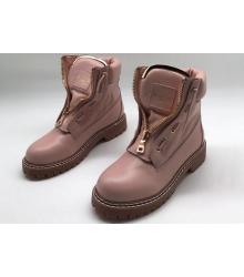 Ботинки женские Balmain (Бальман) натуральная кожа Pink
