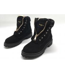 Ботинки женские Balmain (Бальман) натуральная замша Black