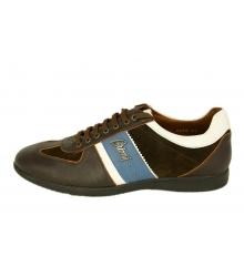 Кроссовки мужские Brioni (Бриони) Brown/Blue