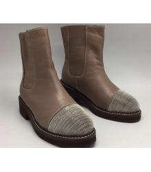 Ботинки зимние женские Brunello Cucinelli (Брунелло Кучинелли) Beige/Silver