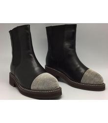 Ботинки зимние женские Brunello Cucinelli (Брунелло Кучинелли) Black/Silver