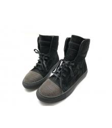 Женские кеды Brunello Cucinelli (Брунелло Кучинелли) брендовые замшевые Black