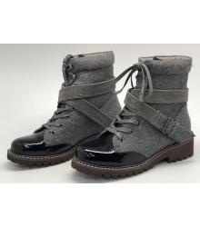 Ботинки женские Brunello Cucinelli (Брунелло Кучинелли) High Grey/Black