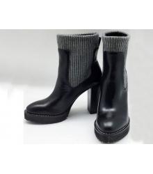 Ботильоны женские Brunello Cucinelli (Брунелло Кучинелли) кожаные Black
