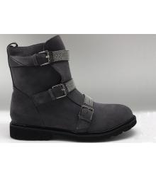Ботинки женские Brunello Cucinelli (Брунелло Кучинелли) кожаные High Grey