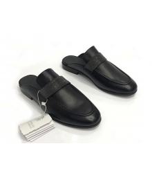 Женские мюли Brunello Cucinelli (Брунелло Кучинелли) кожаные на низком каблуке Black