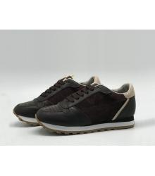 Женские кроссовки Brunello Cucinelli (Брунелло Кучинелли) кожаные на шнуровке Black