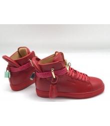 Кеды женские Buscemi 125 mm (Бушеми) кожаные Red