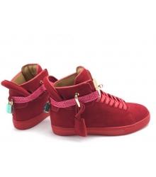 Кеды женские Buscemi 125 mm (Бушеми) замшевые Red