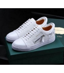 Кеды мужские Buscemi 50 mm (Бушеми) Low-Top White