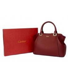 Сумка женская C De Cartier (Картье) Dark Red