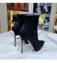 Женские ботильоны Casadei (Касадей) Blade Echidna на высоком каблуке шпилька Black