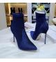 Женские ботильоны Casadei (Касадей) Blade Echidna на высоком каблуке шпилька Blue