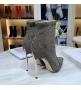 Женские ботильоны Casadei (Касадей) Blade Echidna на высоком каблуке шпилька Gray