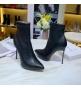 Женские ботильоны Casadei (Касадей) Flora на высоком каблуке шпилька Black