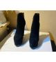 Женские ботильоны Casadei (Касадей) Flora замшевые на платформе и высоком каблуке Black