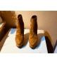 Женские ботильоны Casadei (Касадей) Flora замшевые на платформе и высоком каблуке Brown