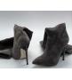 Ботфорты женские Casadei (Касадей) замшевые Grey