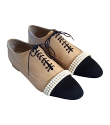 Ботинки женские Chanel (Шанель) Beige