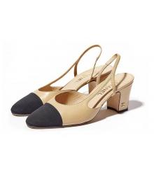 Летние туфли женские Chanel Beige