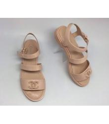 Женские сандалии Chanel (Шанель) Beige