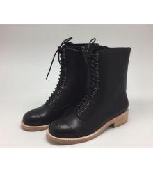 Ботинки женские Chanel (Шанель) Black/Beige