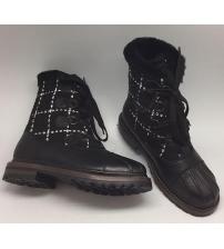 Ботинки зимние женские Chanel (Шанель) Black