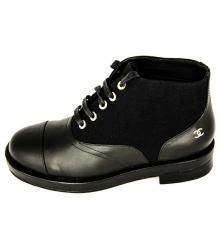 Ботинки женские Chanel (Шанель) Black Combined