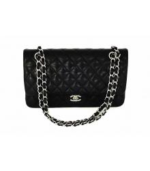 Женская сумка Chanel (Шанель) Black/Leather