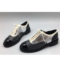 Ботинки женские Chanel (Шанель) Куба Black/Silver/White
