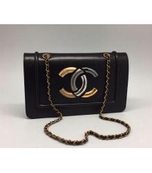 Женская сумка на цепочке Chanel (Шанель) Black