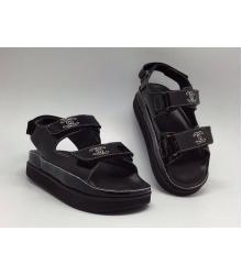 Женские сандалии Chanel (Шанель) Black