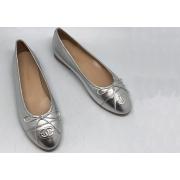 Балетки Chanel (Шанель) брендовые Cruise Silver