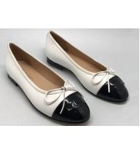 Балетки Chanel (Шанель) брендовые Cruise White/Black