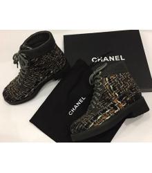 Ботинки женские Chanel (Шанель) Brown/Black