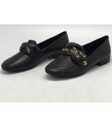 Лоферы женские Chanel (Шанель) Cruise брендовые Black