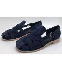 Женские сандалии Chanel (Шанель) Cruise Dark Blue