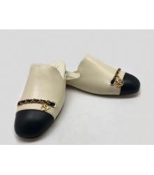 Мюли женские Chanel (Шанель) Cruise кожаные Beige/Black