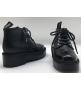 Ботинки женские Chanel (Шанель) Cruise кожаные Black