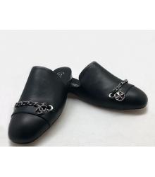 Мюли женские Chanel (Шанель) Cruise кожаные Black