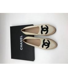 Женские эспадрильи Chanel (Шанель) Cruise кожаные White