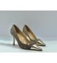 Женские туфли Chanel (Шанель) Cruise летние текстиль каблук шпилька Dark Gray