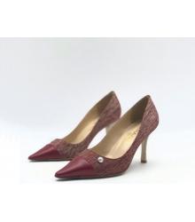 Женские туфли Chanel (Шанель) Cruise летние кожаные каблук шпилька Red