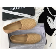 Женские эспадрильи Chanel (Шанель) Cruise летние кожаные с лого Beige