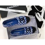 Женские эспадрильи Chanel (Шанель) Cruise летние текстиль Blue
